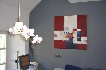 Das Bild des französischen Künstlers Gabriel Adam war der Anlass die Farbgebung der Rezeption umzugestalten