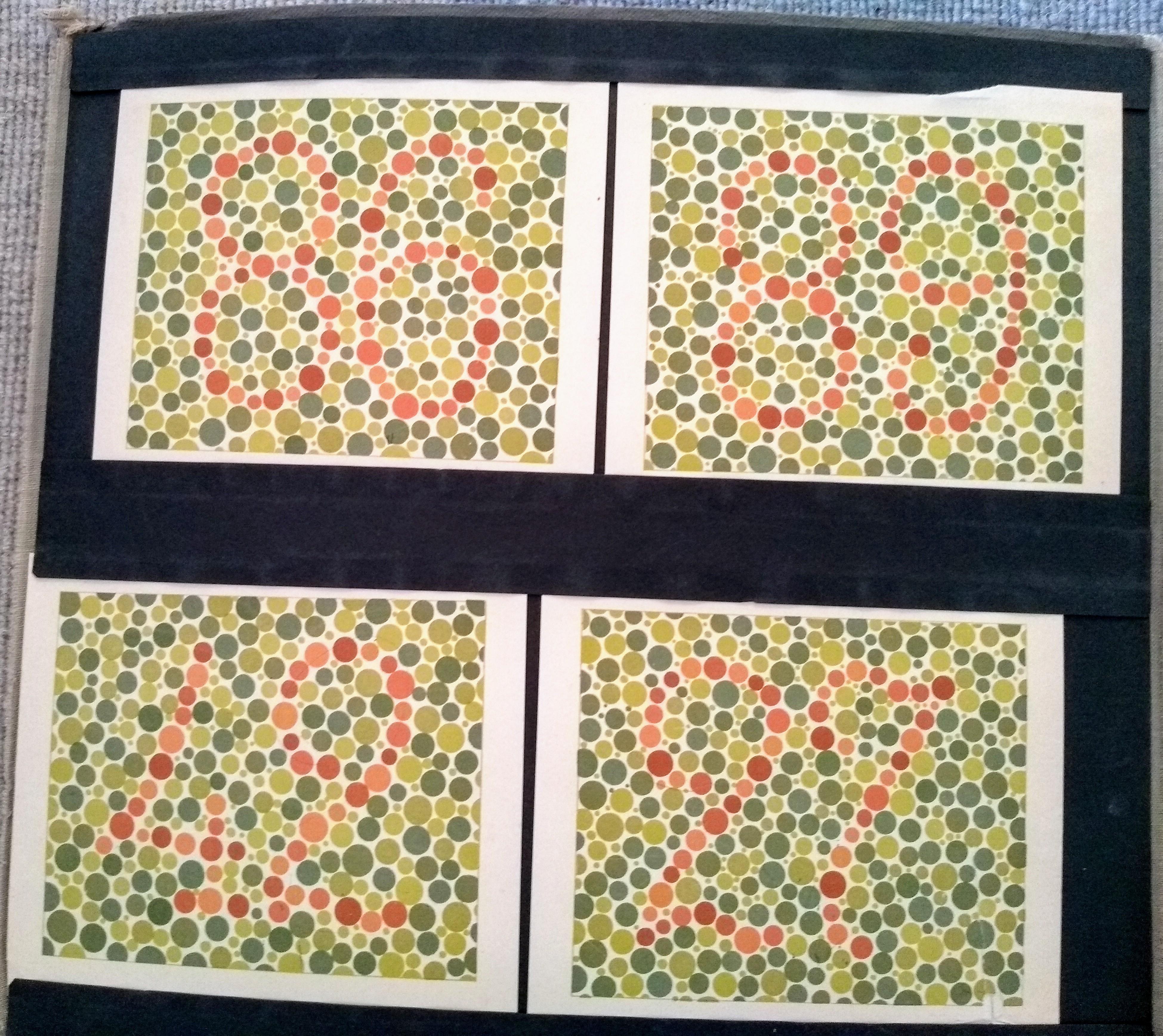 Sehtafel aus Stillings Tafeln zur Prüfung des Farbsinnes